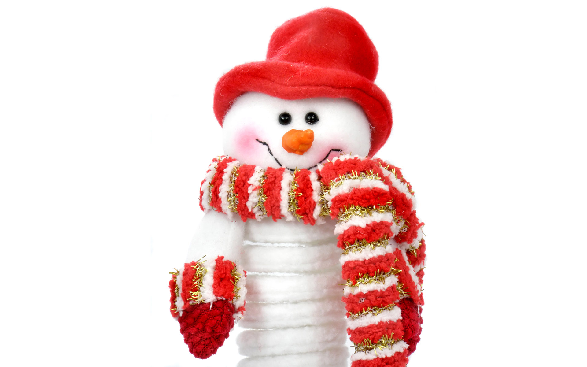 1920x1200 Snowman with red hat desktop PC and Mac wallpaper 1920x1200