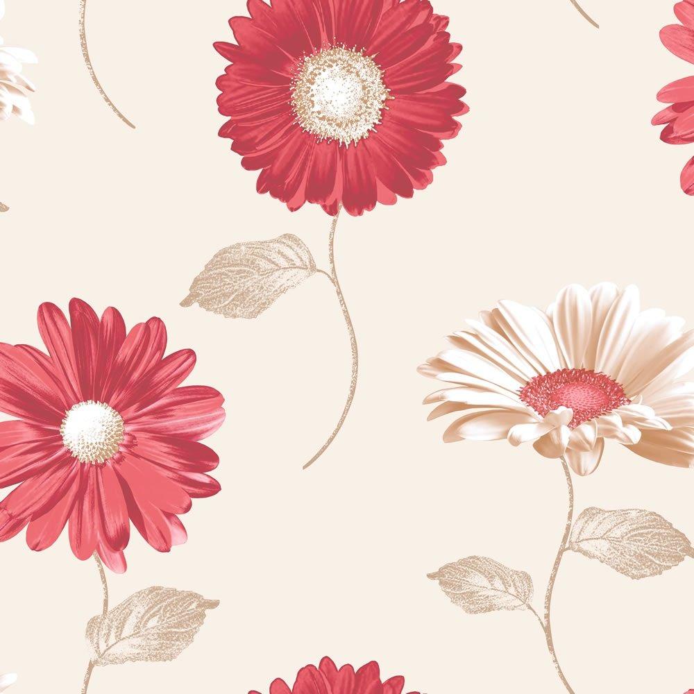Home Wallpaper Muriva Muriva Daisy Floral Wallpaper 111502 1000x1000