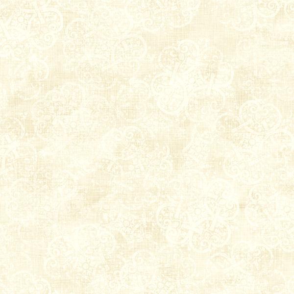 Cream and White Leafy Scroll Coordinate Wallpaper   Wall Sticker 600x600