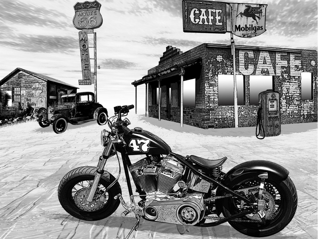 Route 66 desktop image United States of America wallpapers 1024x768