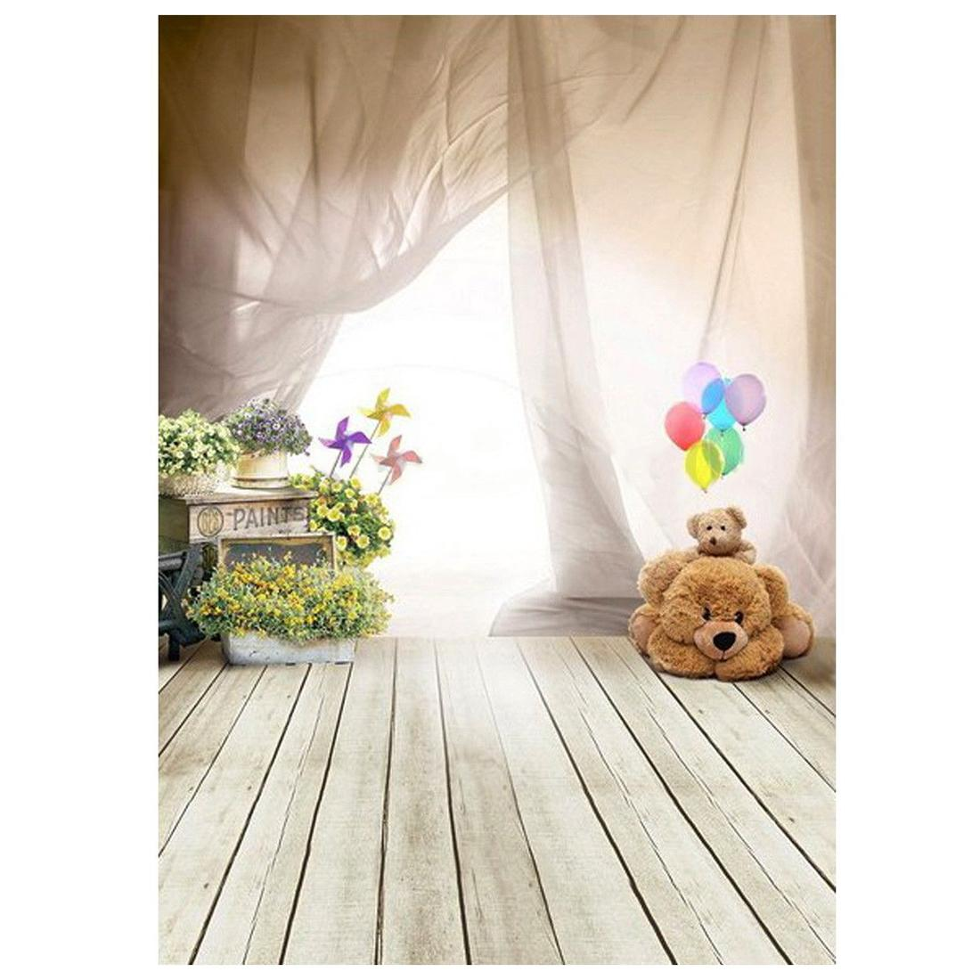 2019 CES 1m X 15m Lovely Bear Floor Balloon Studio Backdrops 1100x1100
