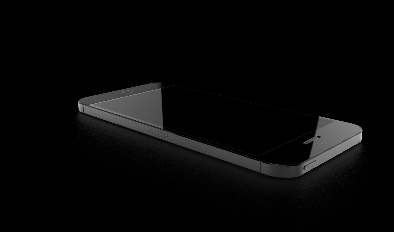Black Apple iPhone 6 concept Desktop wallpapers 1366x768 3000x1769