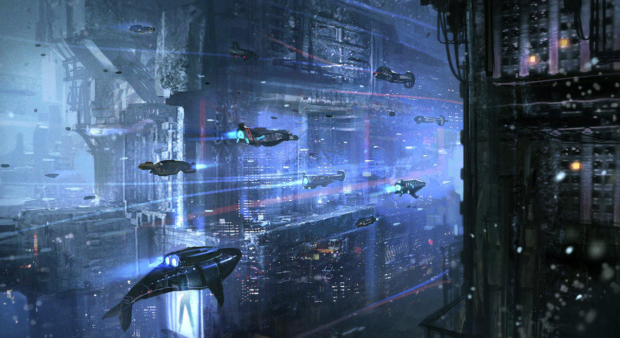 Underwater Cyberpunk City by nkabuto 1209x660