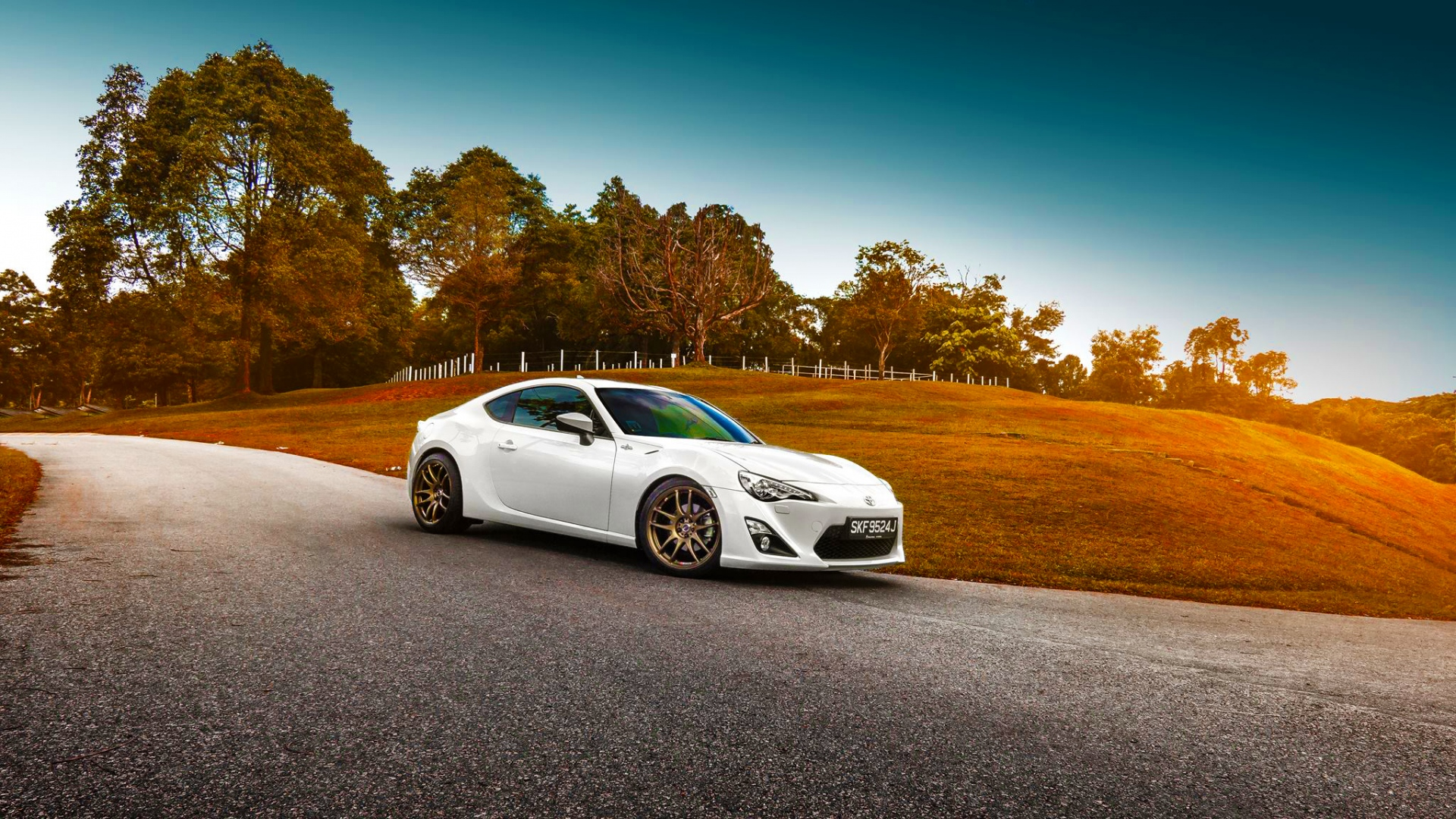 Download Wallpaper 1920x1080 Toyota Gt86 White Side 1920x1080