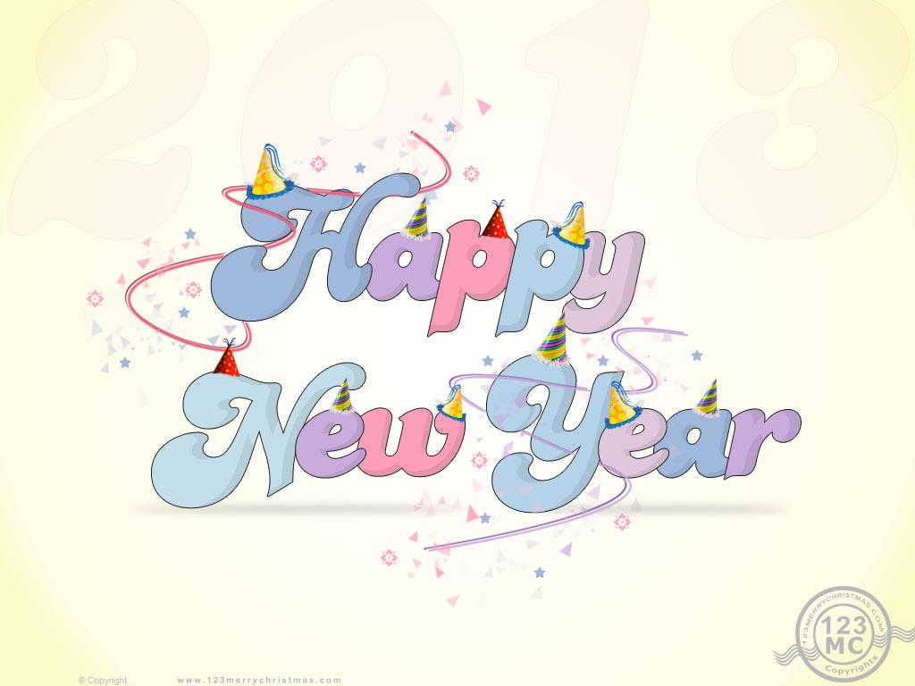 Happy New Year 2013 Download Wallpaper eCard Greetings 1024x768