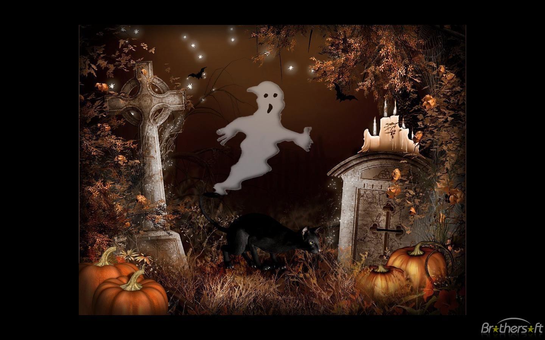 Halloween Scenes Screensaver Artsy Halloween Scenes Screensaver 1440x900