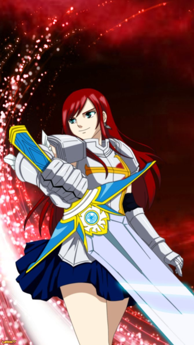 Fairy Tail   Erza iPhone Wallpaper by Latios77 670x1191