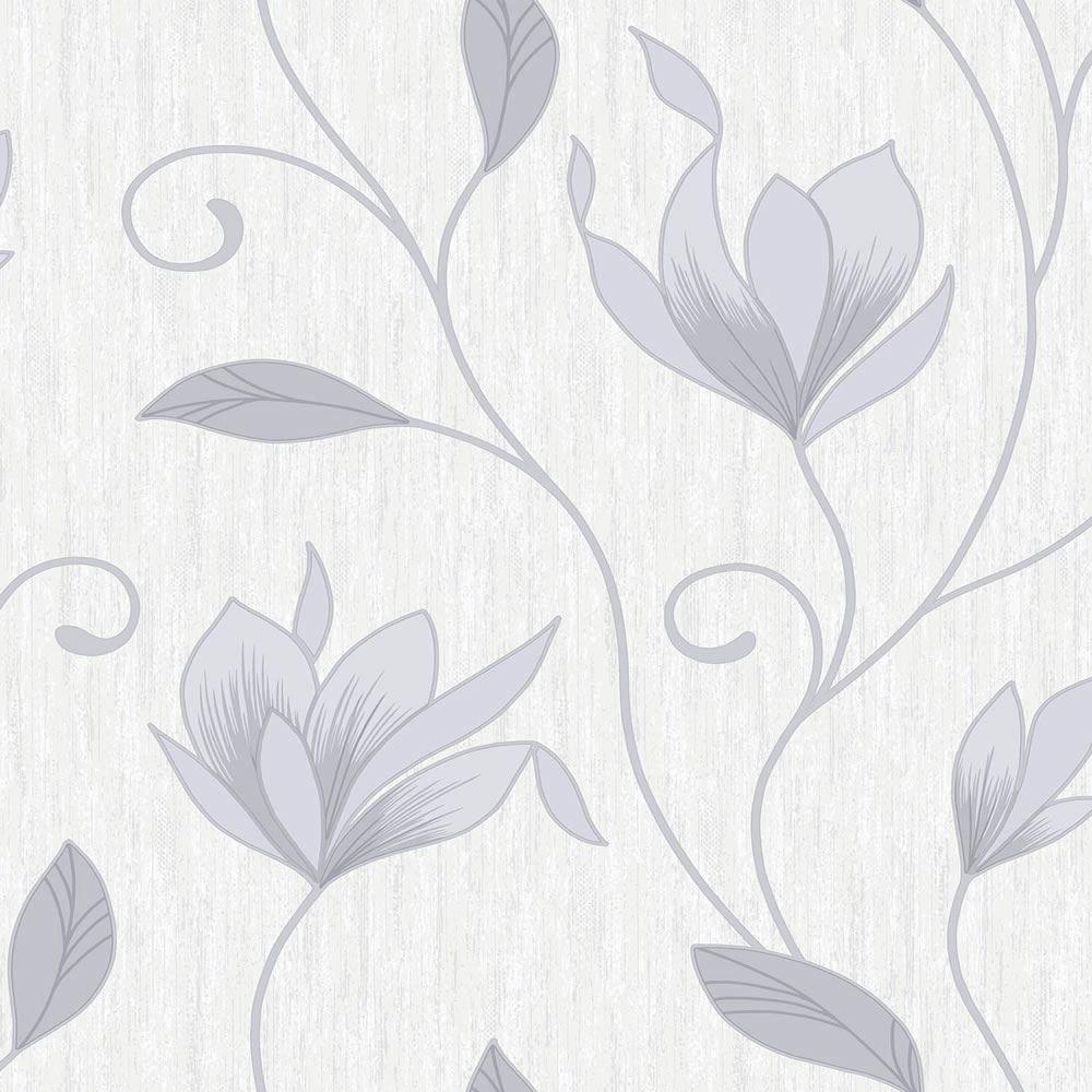 Gray And White Flower Wallpaper Wallpapersafari