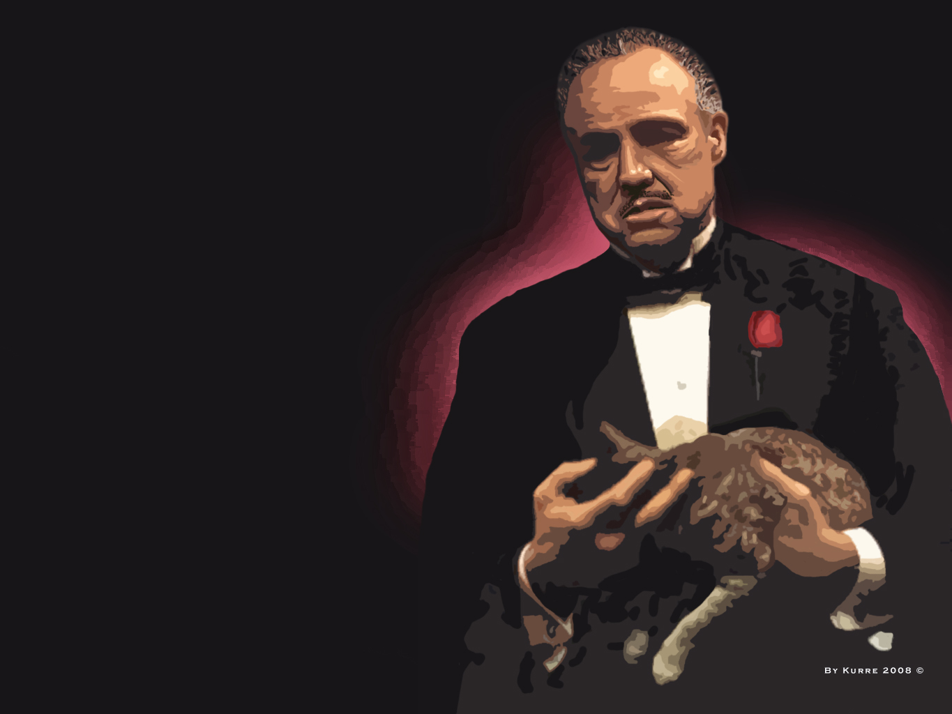 don corleone wallpaper by kushtrim fan art wallpaper movies tv 2008 1365x1024
