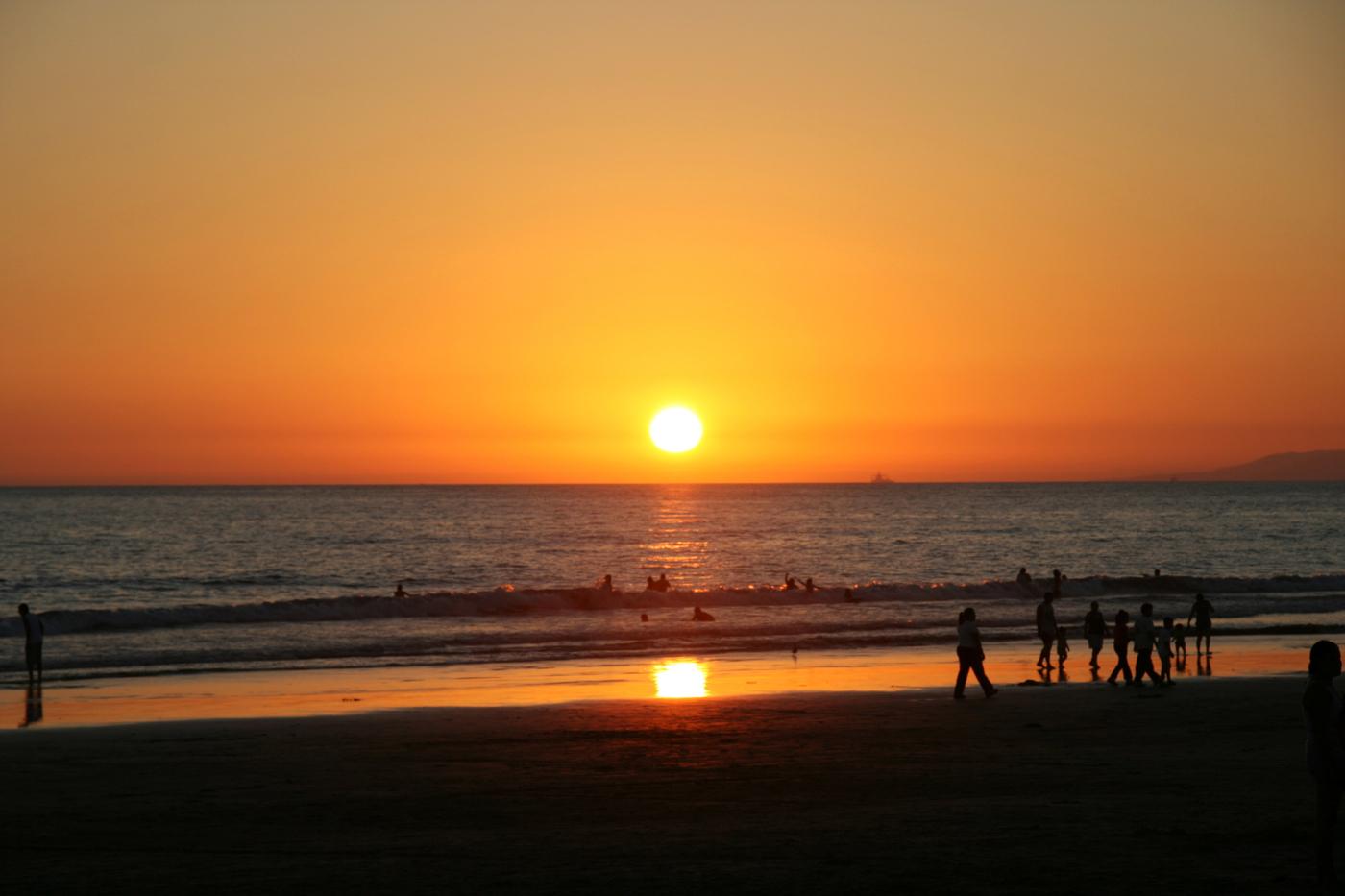 beach sunset wallpaper 1400x933
