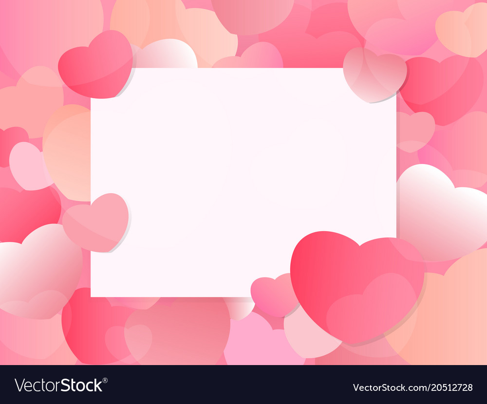 Heart valentines day background with space Vector Image 1000x830
