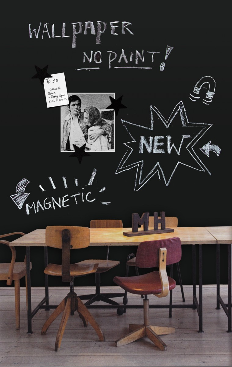 Magnetic Chalkboard Wallpaper   Groovy Magnets 760x1200
