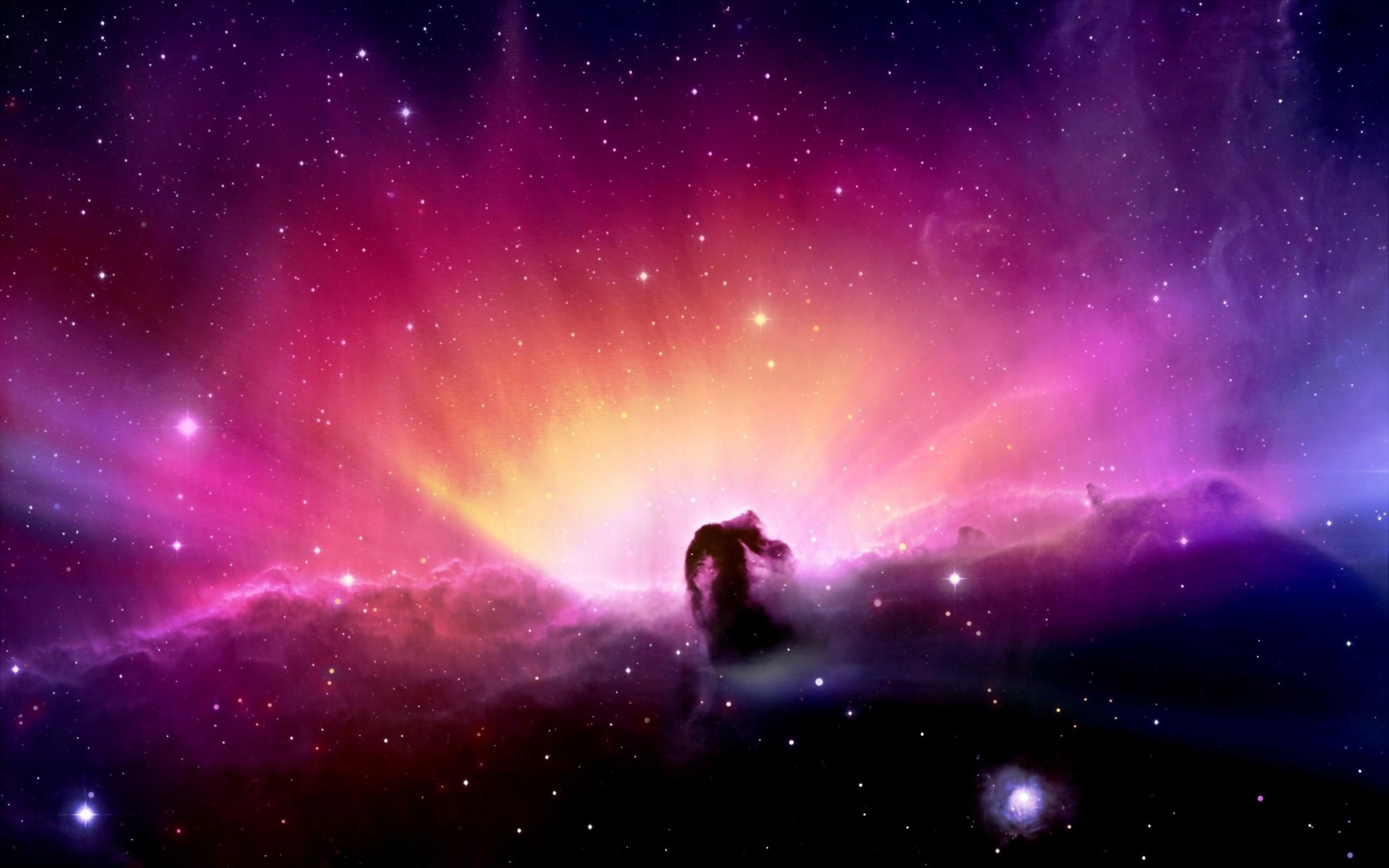 Sky Spot Star Dark Night Colorful Wallpaper Background Ultra HD 3840x2400