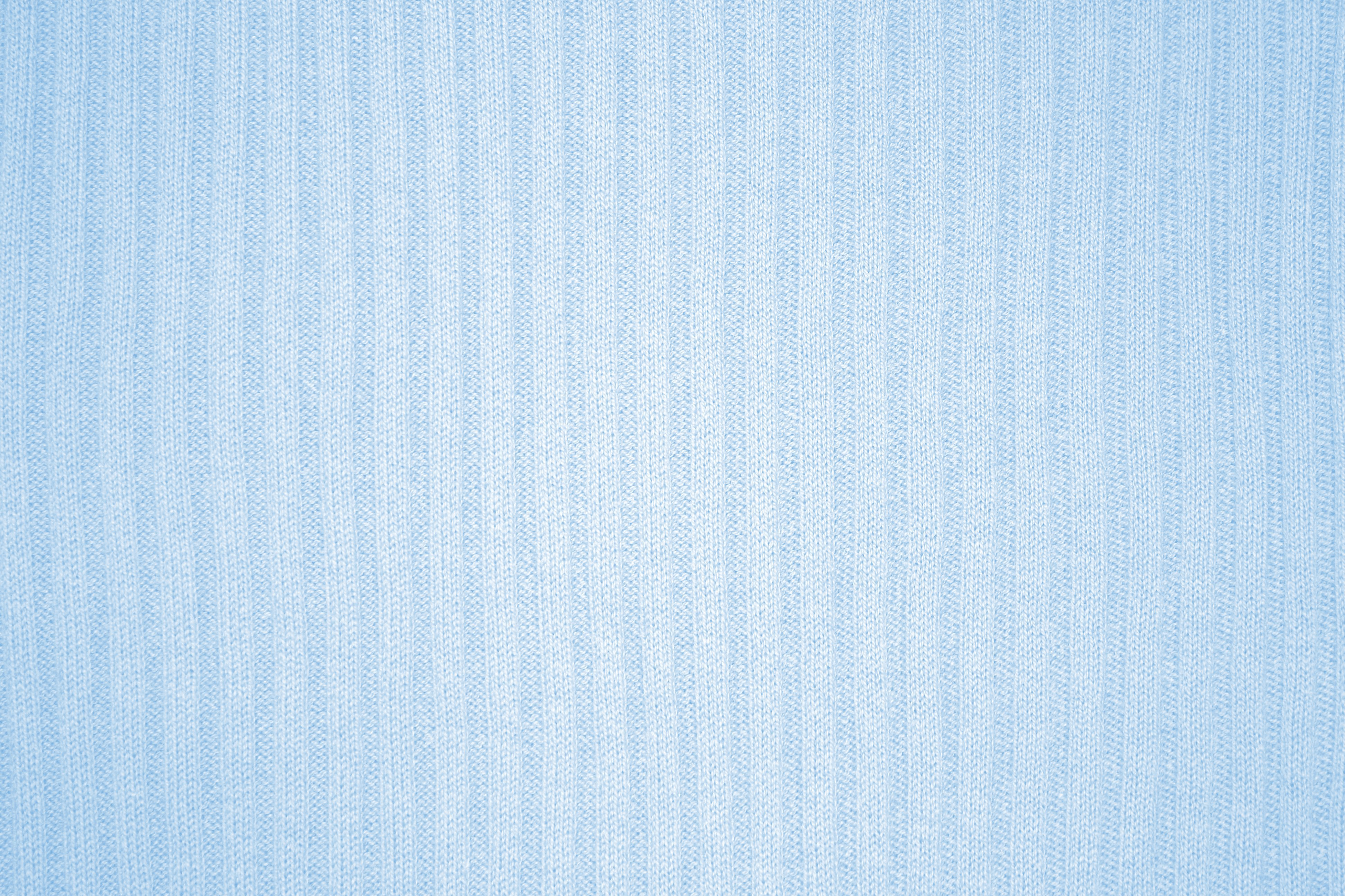 Baby Blue Ribbed Knit Fabric Texture   High Resolution Photo 3888x2592