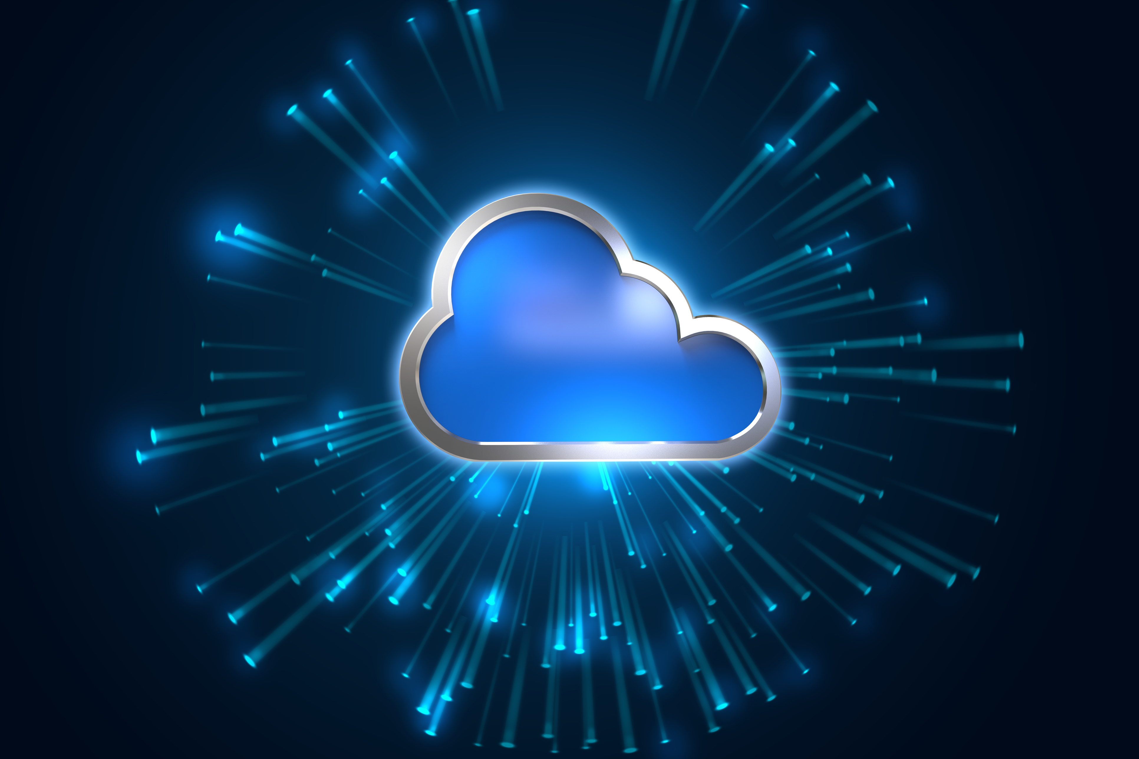 Cloud computing system abstract technology background   OnX 3865x2576
