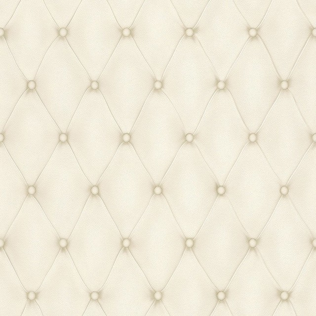 Contemporary Faux Leather Cream Tufted Wallpaper R3680 Double Roll 640x640