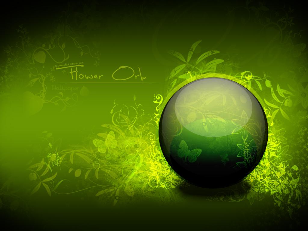 Flower Orb Wallpaper by Tosjke 1024x768