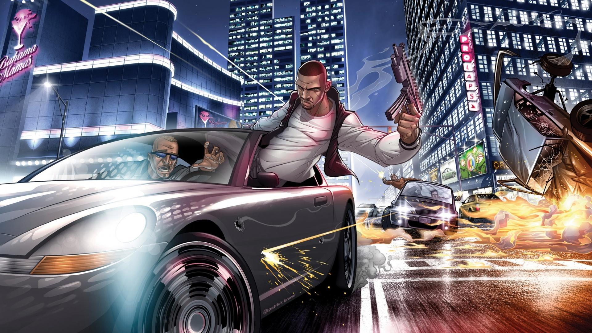 Download Grand Theft Auto IV Art HD Wallpaper Wallpapers 1920x1080