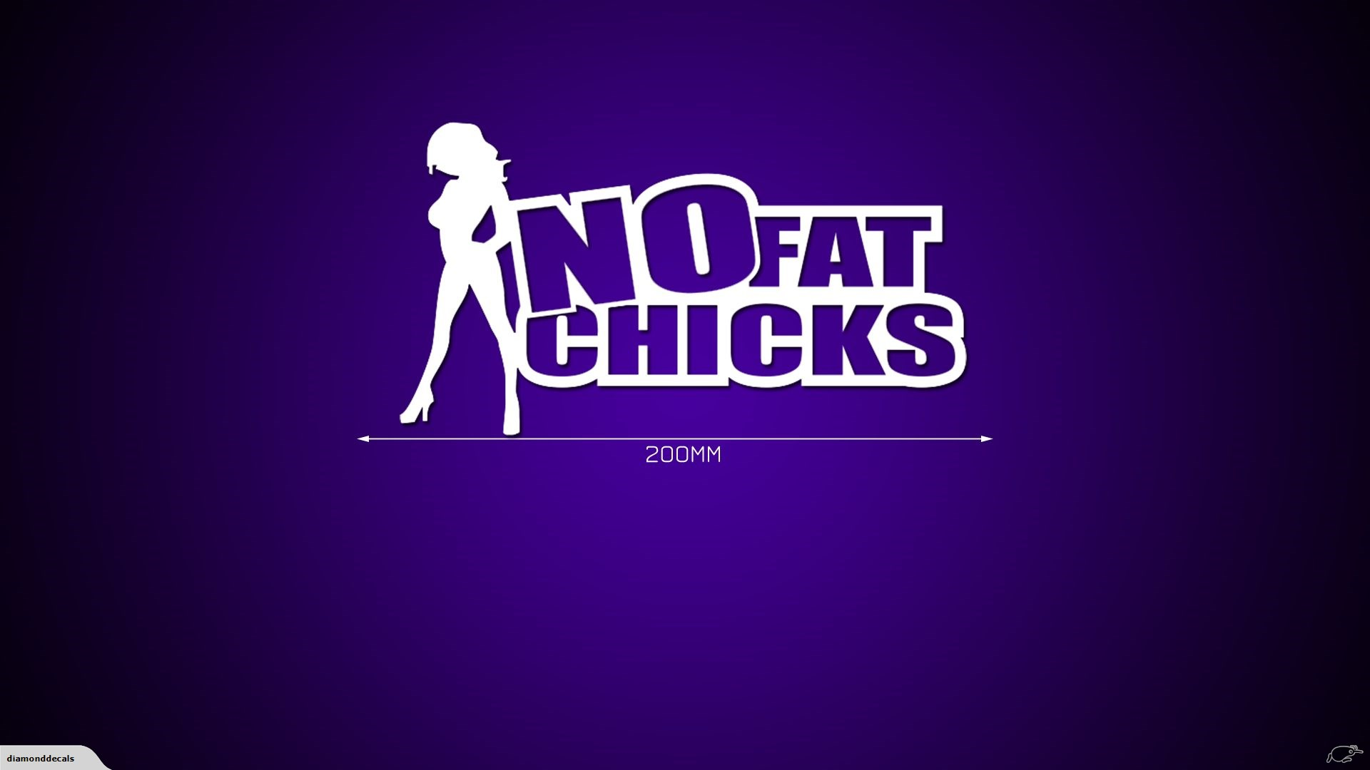No Fat Chicks   JDM Car Decal Sticker   DiamondDecals Trade Me 1920x1080