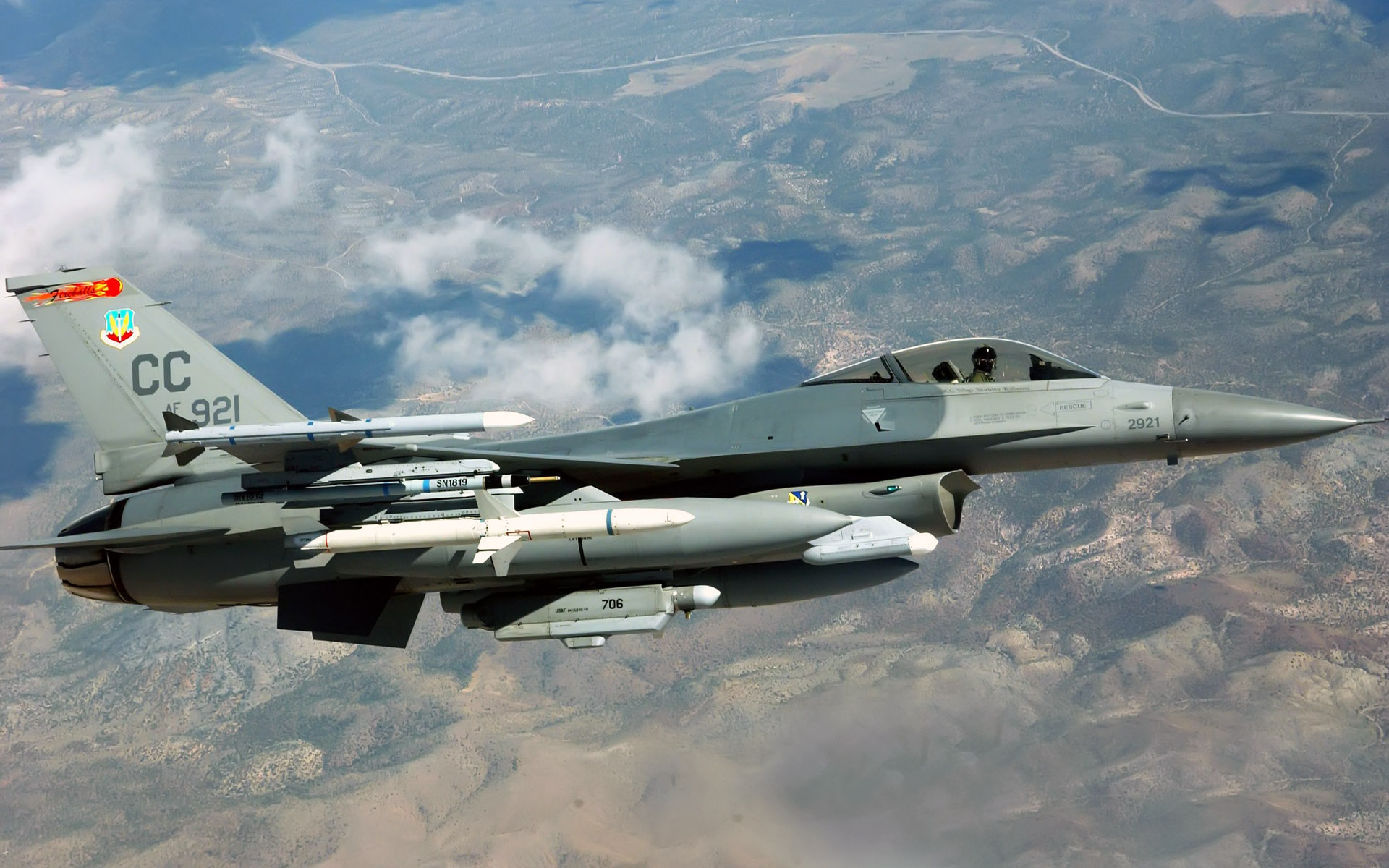 Aircraft HD Wallpapers f 16c fighting falcon cannon air force 1920x1200