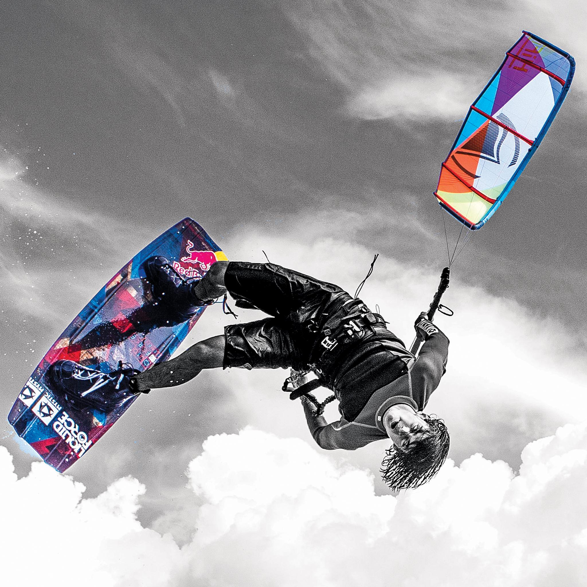 Download Wake style kiteboarding wallpaper Cristophe Tack 2048x2048