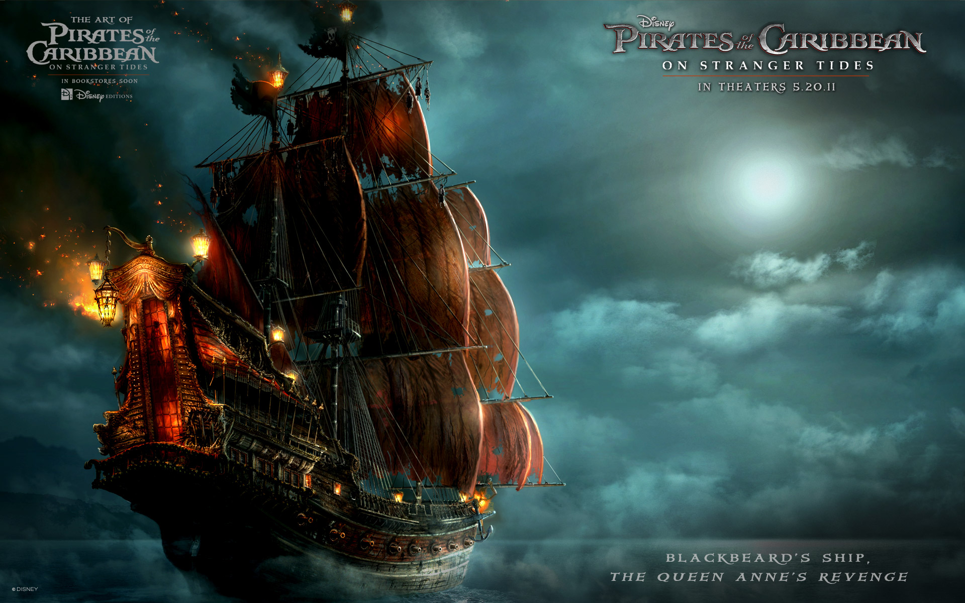 Ship in Pirates Of The Caribbean 4 Wallpapers HD Wallpapers 1920x1200