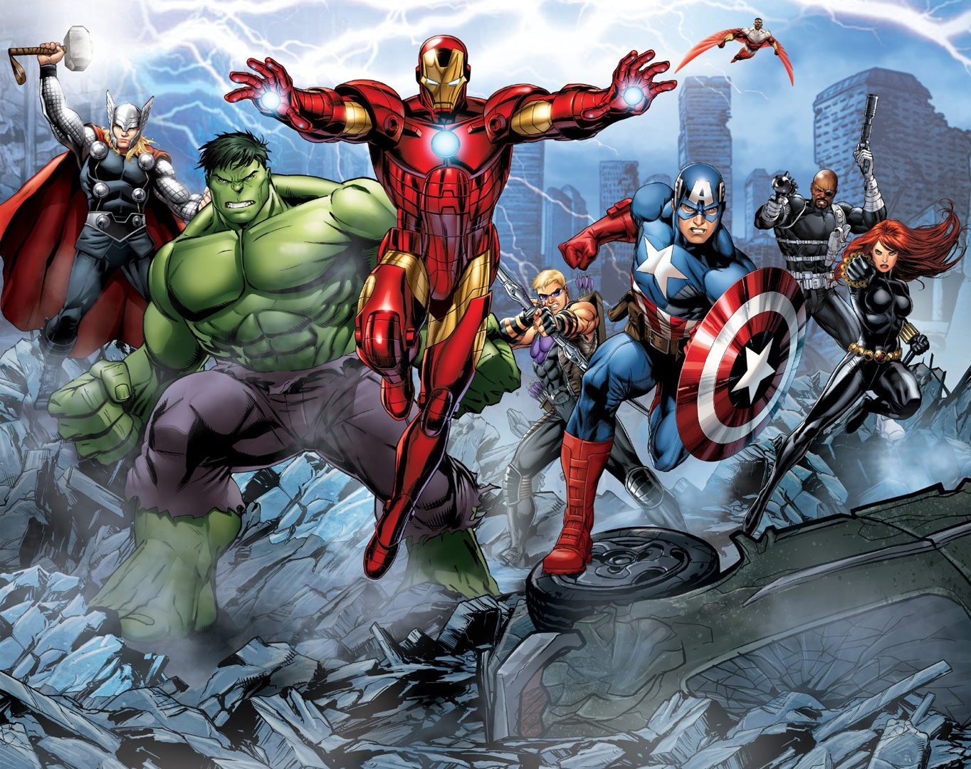 c1bac8339e7 an epic battle in your home with the Avengers Assemble Full Wall Mural  1364x1080