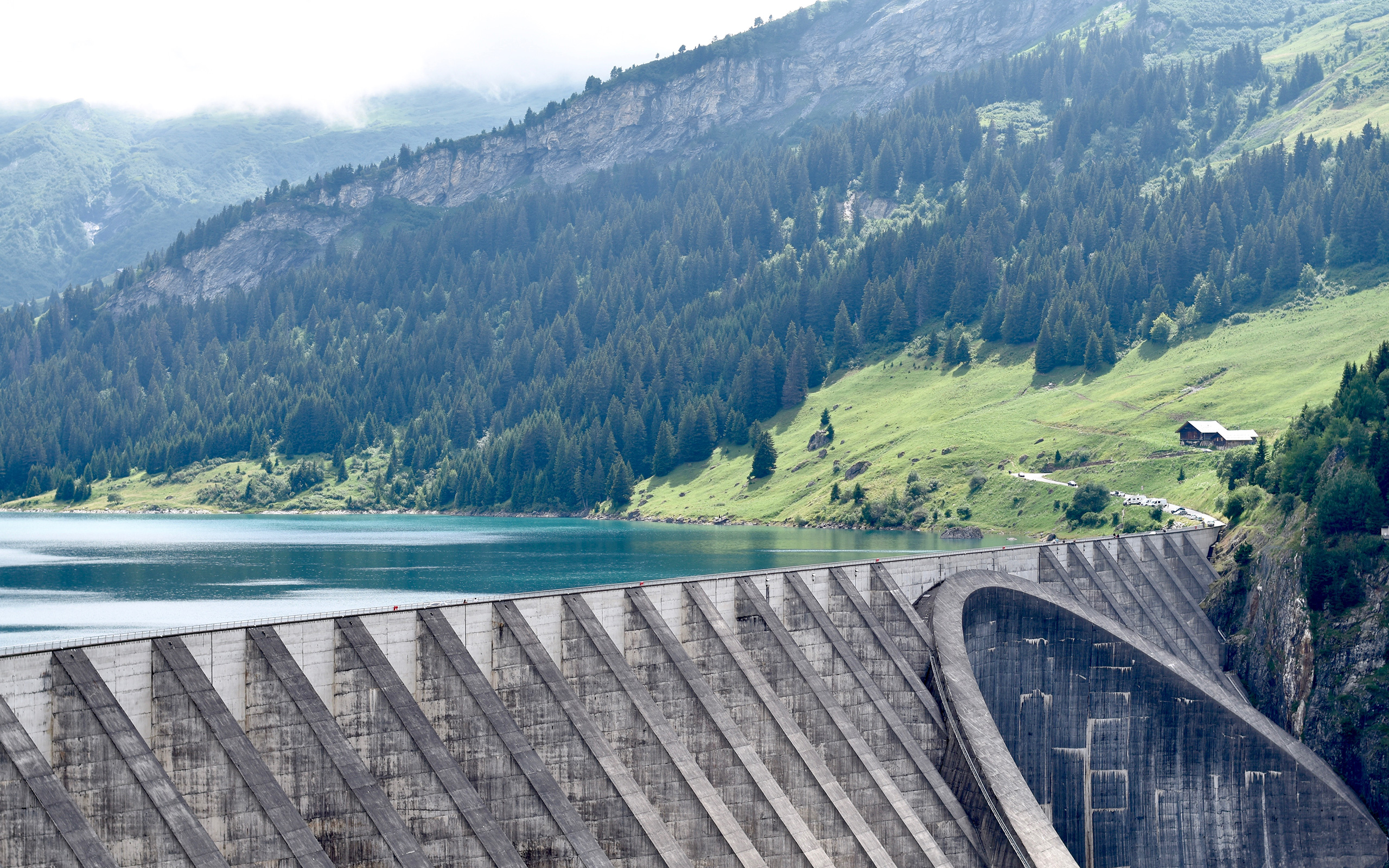 Daily Wallpaper Roselend Dam France I Like To Waste My Time 2560x1600