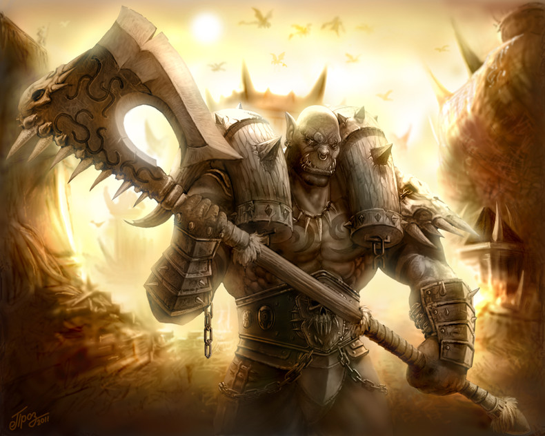 Orc Warrior   World Of Warcraft Wallpaper theVideoGameGallerycom 790x632