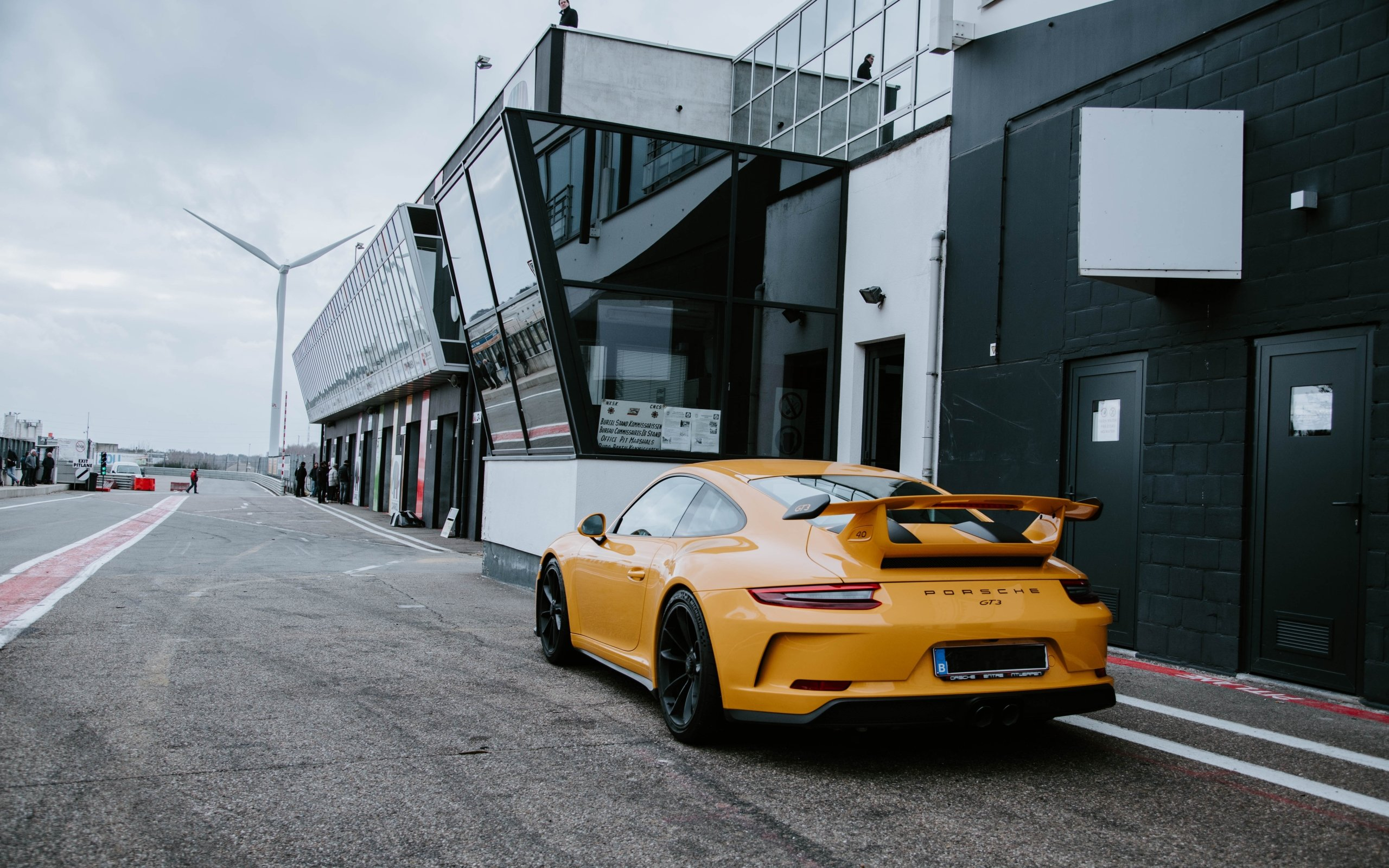 Wallpaper of Car Yellow Porsche 911 GT3 Supercar SportCar 2560x1600
