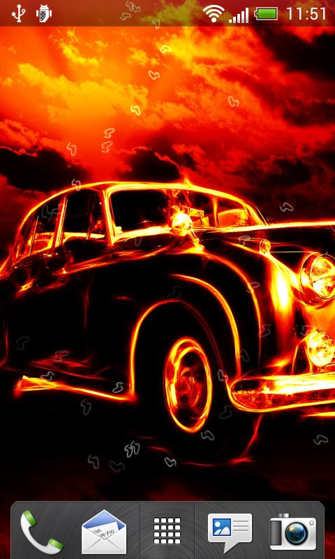 Fire Cars Live Wallpaper for android Fire Cars Live Wallpaper 480x800