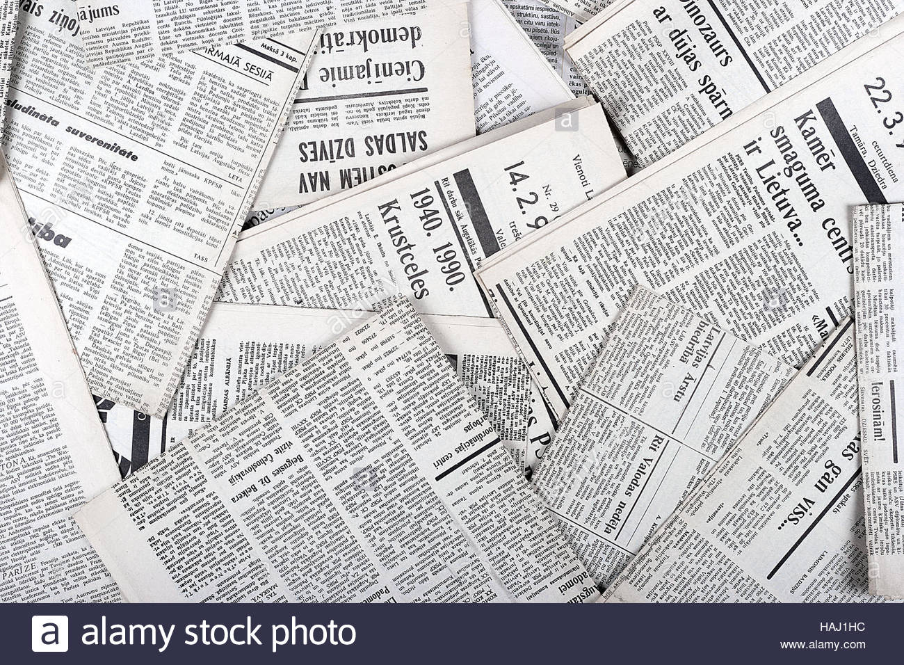 background of old vintage newspapers Stock Photo 127015544   Alamy 1300x956