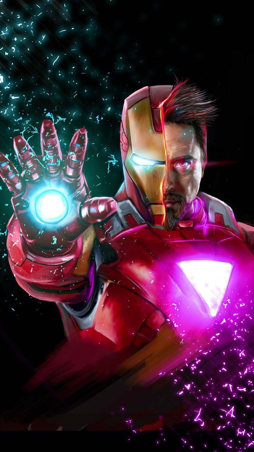 Avengers Endgame Tony Stark Iron Man iPhone Wallpaper Avengers 852x1515