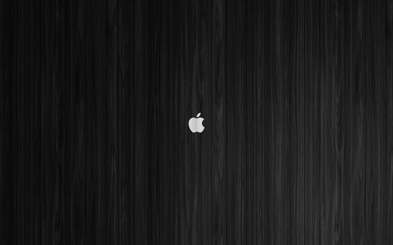 White Apple on Black Wood Mac Wallpaper by ZGraphx 1440x900
