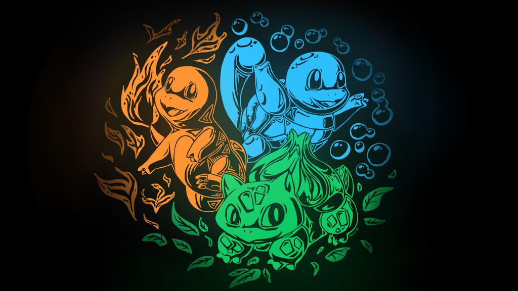 pokemon starters wallpaper wallpapersafari