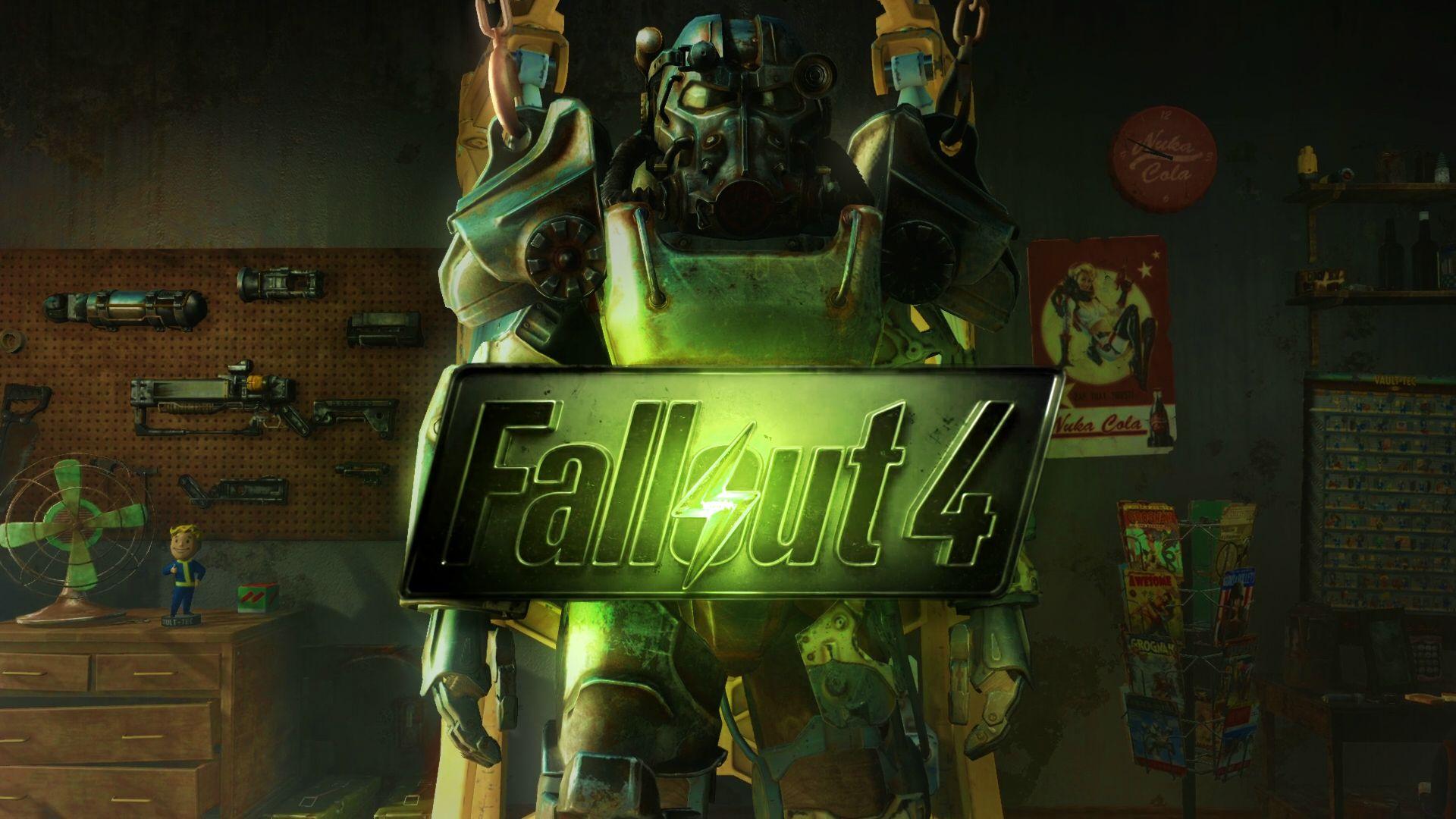 Fallout 4 Desktop Wallpaper Weapons back 1920x1080