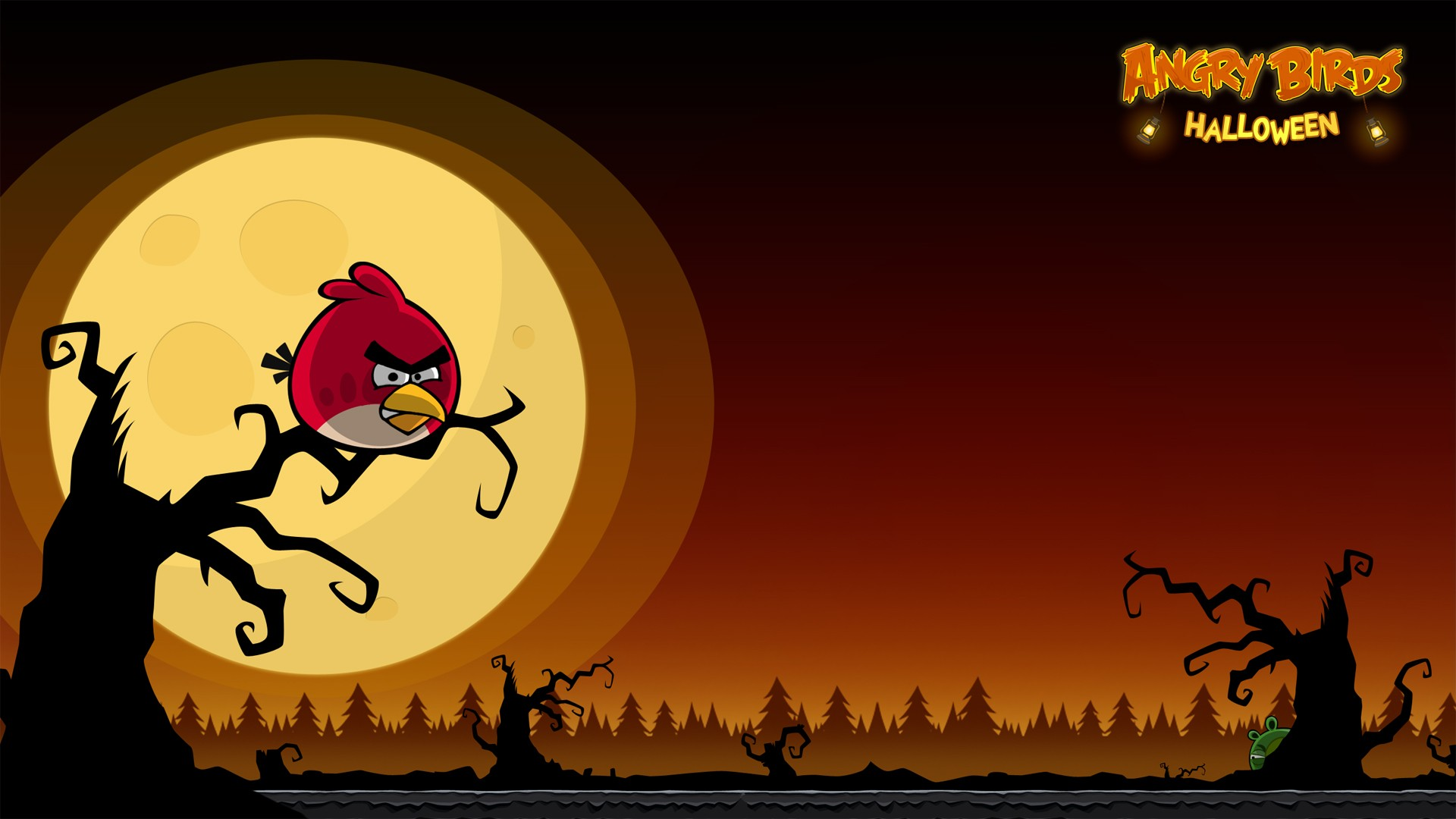 Angry Birds Halloween HD Background Download HD Images Amazing 1920x1080