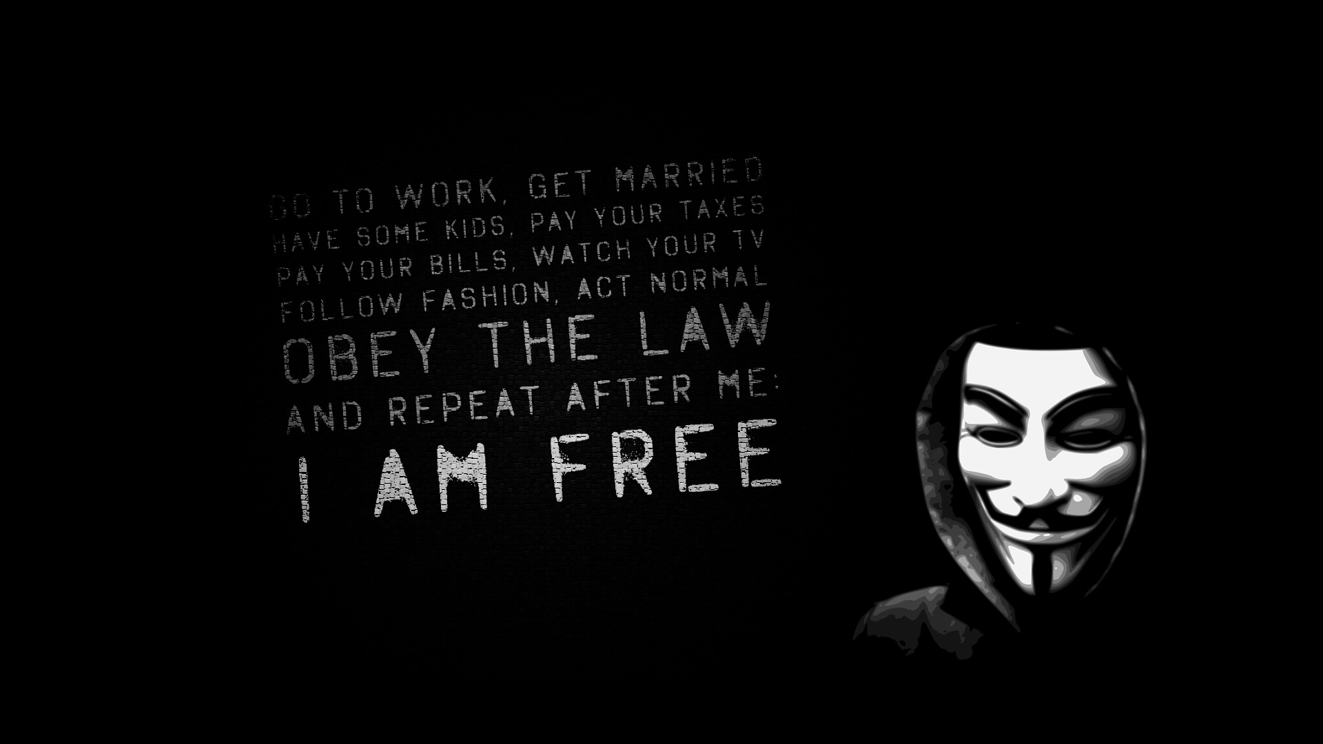 1920x1080 Obey the law desktop PC and Mac wallpaper 1920x1080