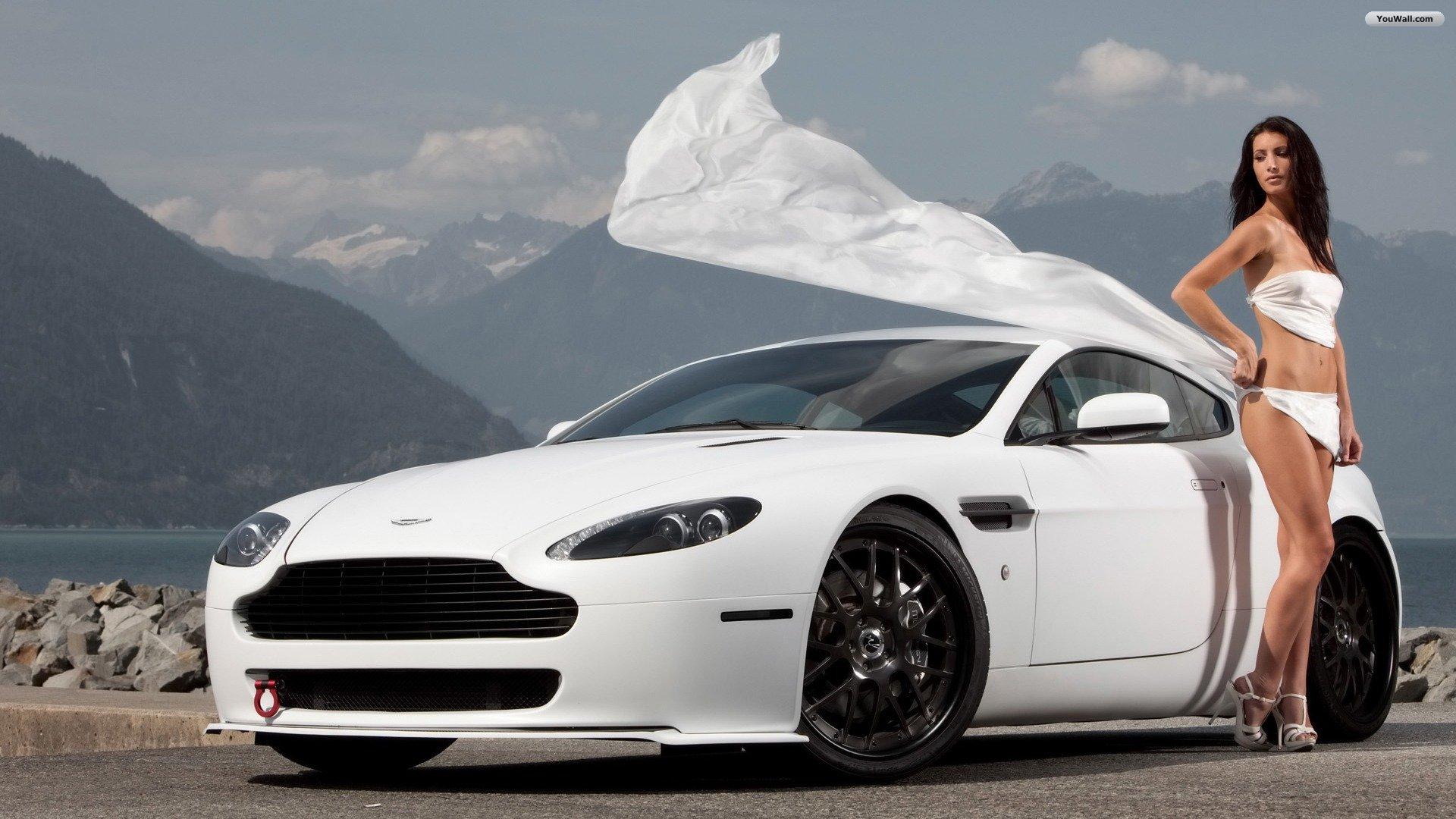 girl and white car wallpaper 3a432jpg 1920x1080