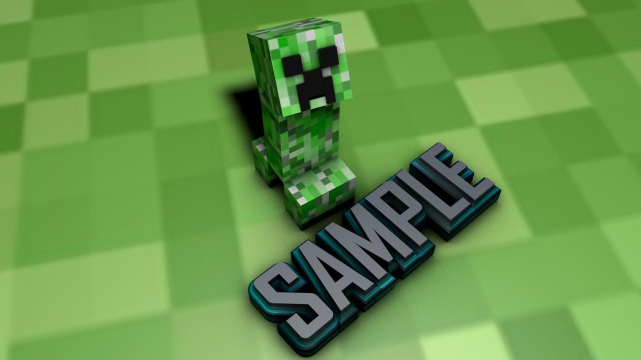 Minecraft Creeper Anatomy Wallpaper HD 1280x720