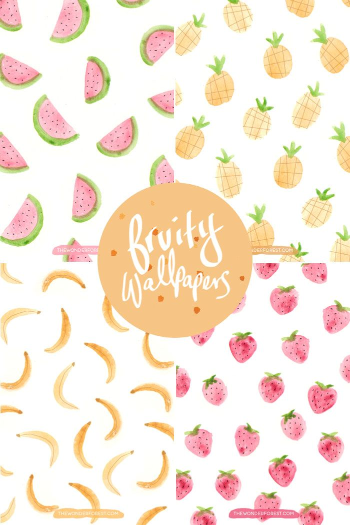 Pineapple Banana Watermelon and Strawberry wallpapers for your 700x1049