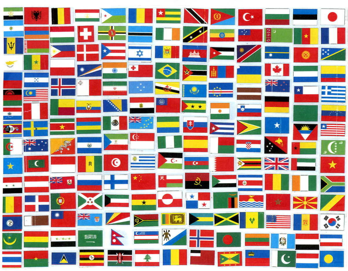 World flags vector free free ... - all-free-download.com
