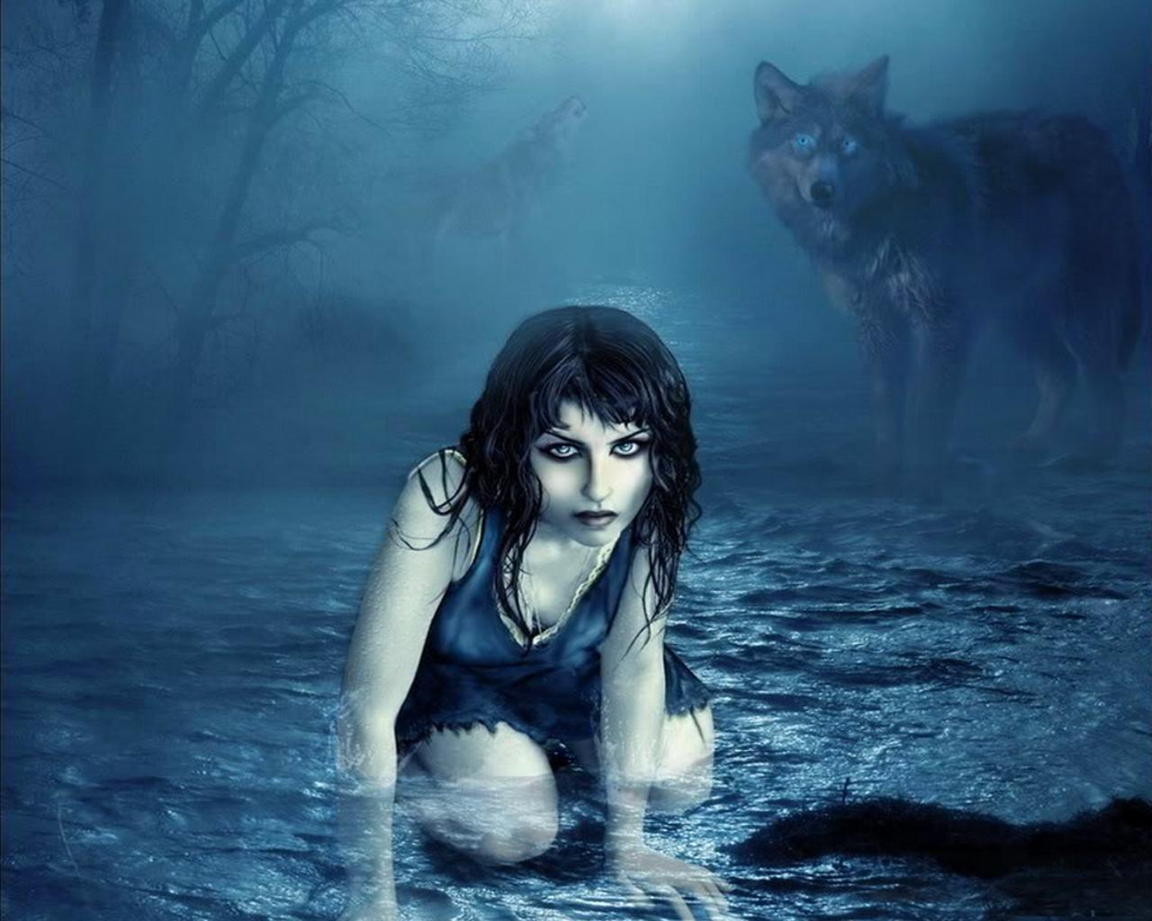 Girl Wallpaper: Wolf Girl Wallpaper