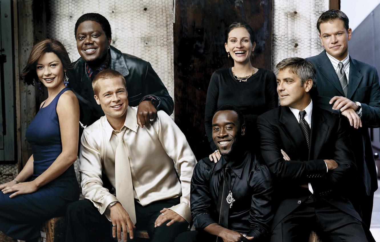 Wallpaper Brad Pitt George Clooney Matt Damon Don Cheadle 1332x850