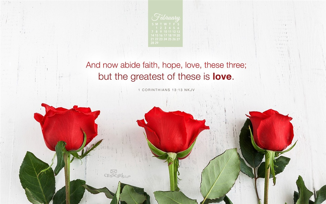 2016   Faith Hope Love Desktop Calendar  February Wallpaper 1100x687