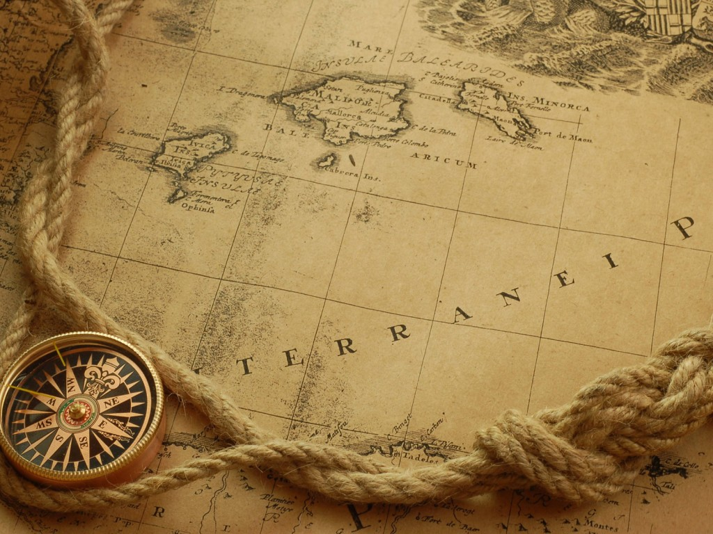 DREAM WALLPAPERS Antique Map Wallpaper 1024x768