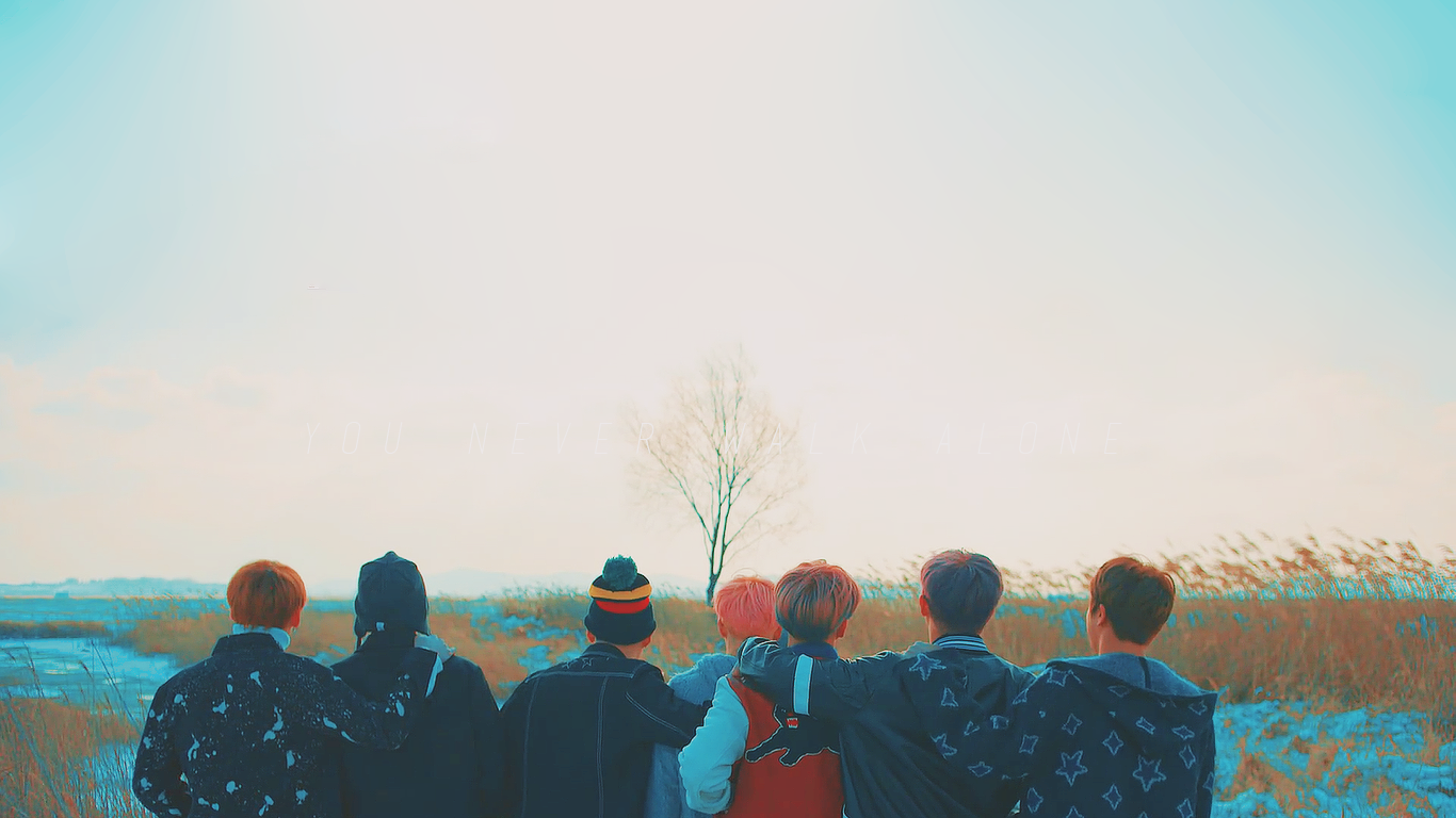Spring Day wp version Bts spring day wallpaper Bts spring day 1366x768