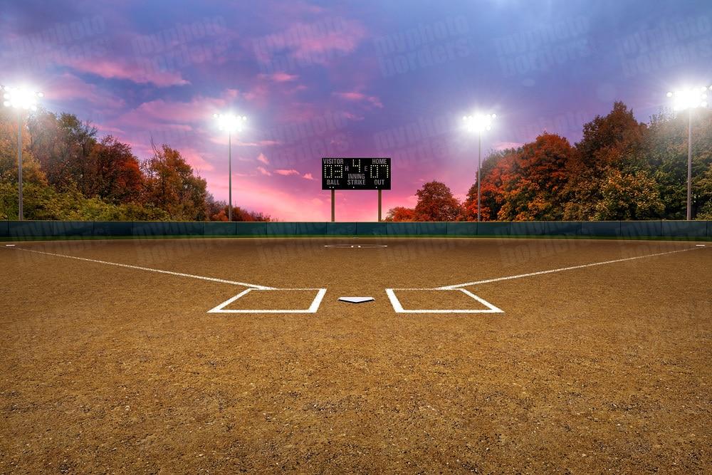 Digital Sports Background   Softball Park II   Horizontal 1000x667