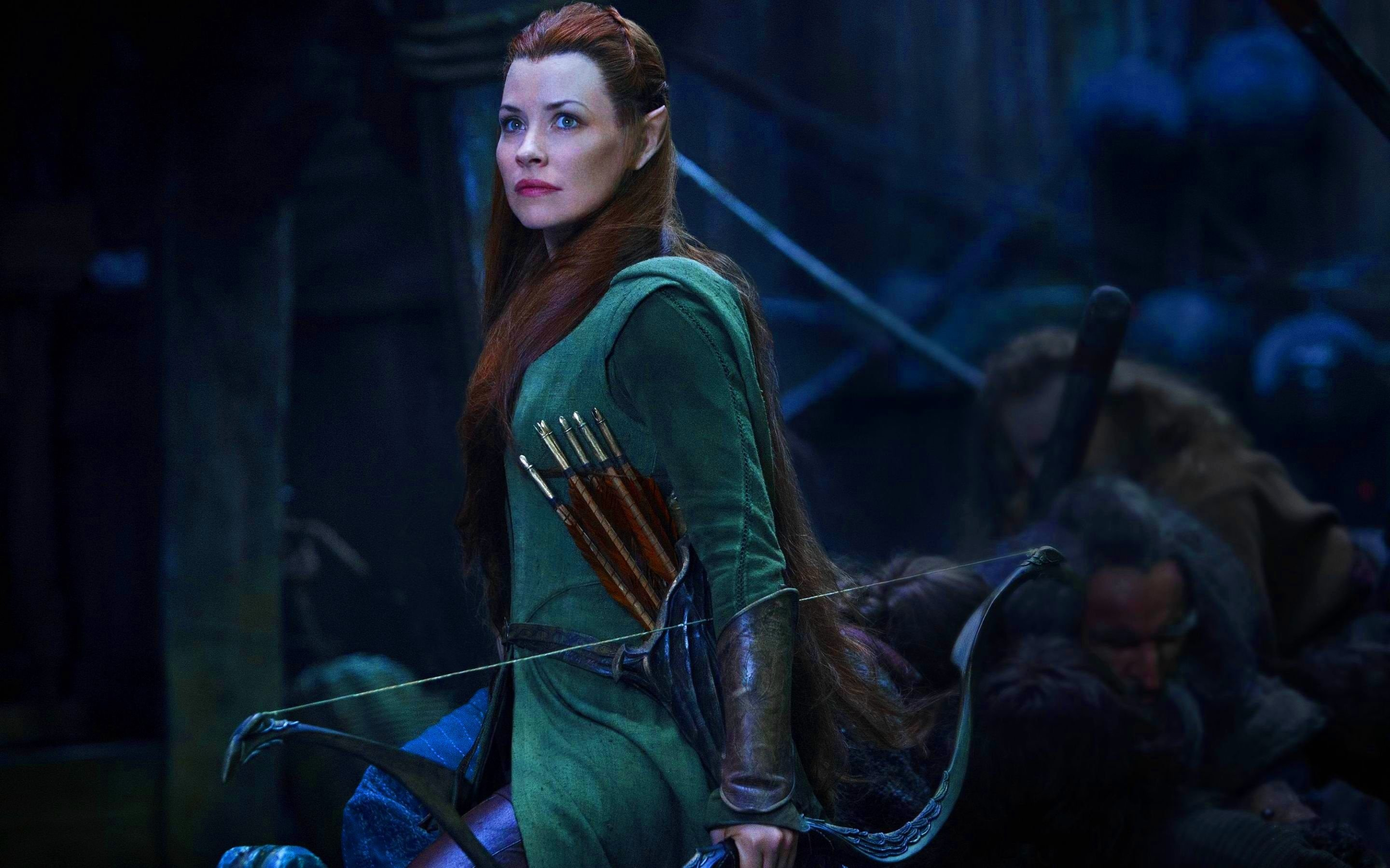 Evangeline Lilly In The Hobbit 2014 Wallpapers   2880x1800   937667 2880x1800