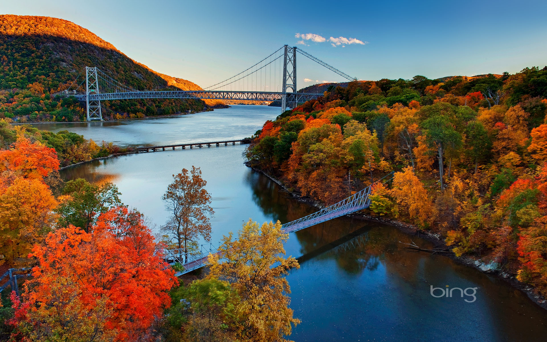 State Park Hudson River Valley New York HD Bing Wallpaper Archive 1920x1200